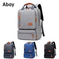 Abay 2019 new Anti theft Men's Nylon Backpacks 15.6 inch Laptop Backpack Male Leisure Travel Rucksack Gray Black men School Bags