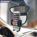 Cobao espejo retrovisor del coche universal soporte para teléfono soporte flexible del sostenedor del montaje para iphone 5s 6 6 s 7 más samsung galaxy s4 s5 s6