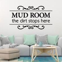 Diy MUD room Home Decor Vinyl Wall Stickers For Living Room Bedroom Art Mural naklejki na sciane