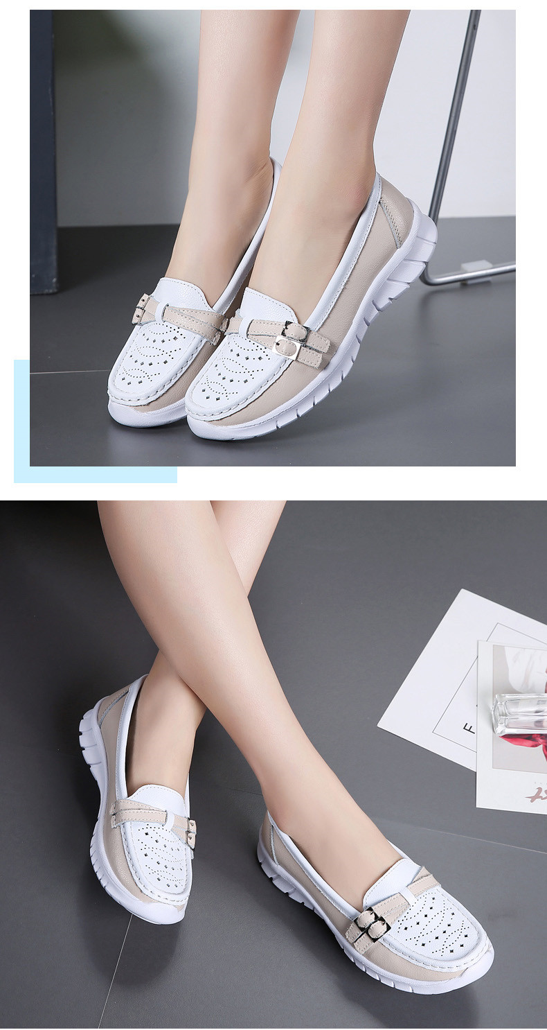 Spring Women Shoes Genuine Leather Handmade Flats Casual Shoes Woman Slip-on Loafers Ballet Flats Ladies Shoes Slipony (16)