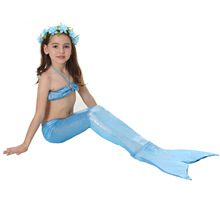 3 Pcs Swimmable Mermaid Tail Costumes The Little Mermaid Costume Cosplay Clothes