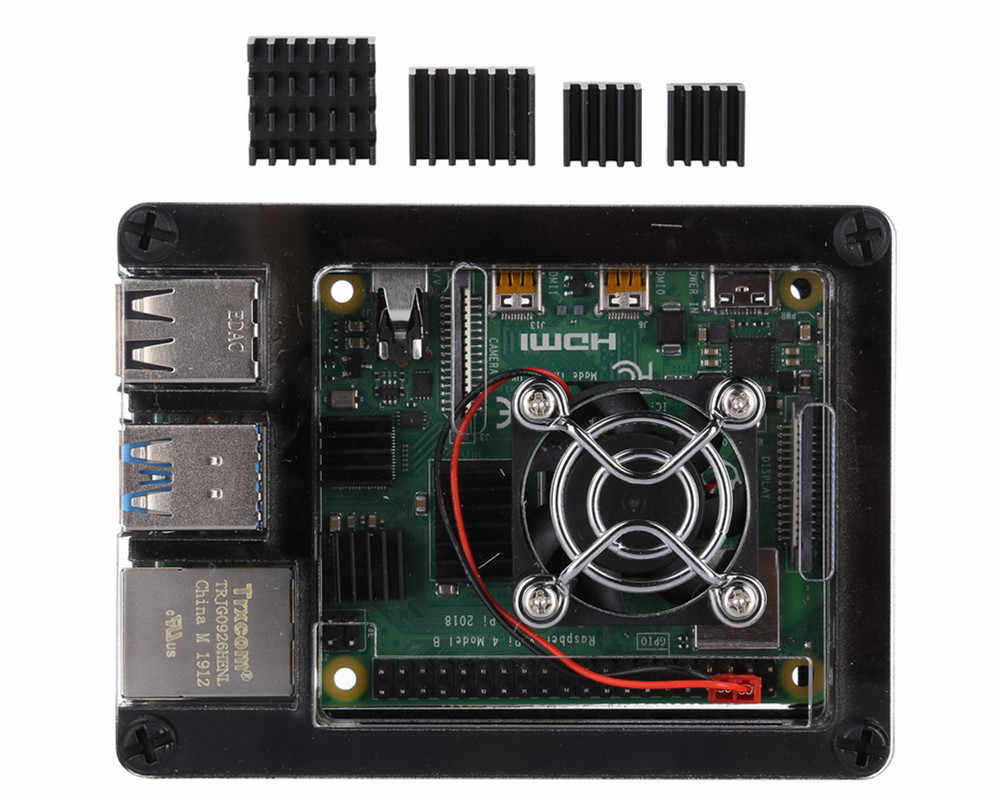 New 9 layers Case Shell Enclosure Cooling Fan Heat sink for Raspberry Pi 4 Model B