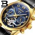 Switzerland BINGER watches men luxury brand Tourbillon sapphire luminous multiple functions Mechanical Wristwatches B8602-12