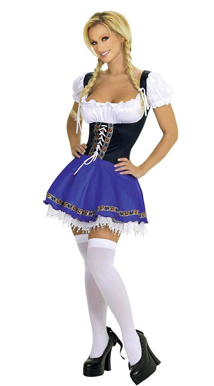 2017 Le Donne Si Precipitarono Sexo Catsuit Halloween Costume di Carnevale Adulto Oktoberfest Beer Girl Costumi Per Le Ragazze Disfraces Size 2xl 3xl