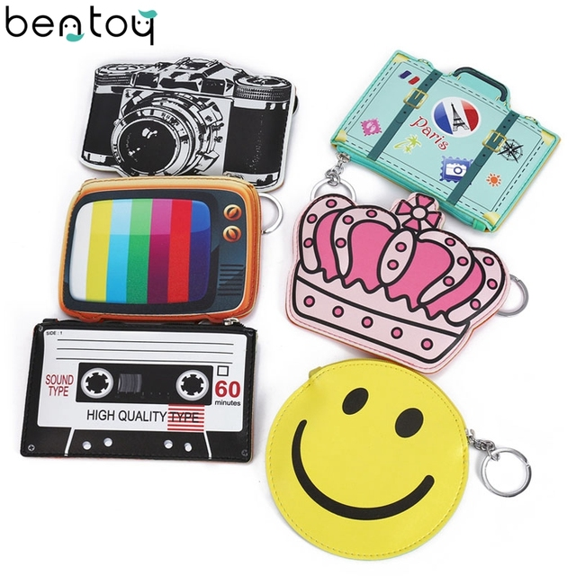 Bentoy Funny Leather Wallet Woman Fantasy Coin Purse Cute Camera ...