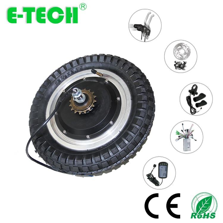 Offre spéciale 12 pouces auto-équilibrage dérive DC moteur sans engrenage sans engrenage avec pneu
