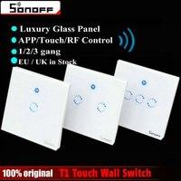Sonoff T1 AB/İNGILTERE Akıllı WiFi RF/APP/Dokunmatik Kontrol Duvar işık Anahtarı 1/2/3 Gang İNGILTERE Panel Duvar Dokunmatik Işık Anahtarı Akıllı Ev