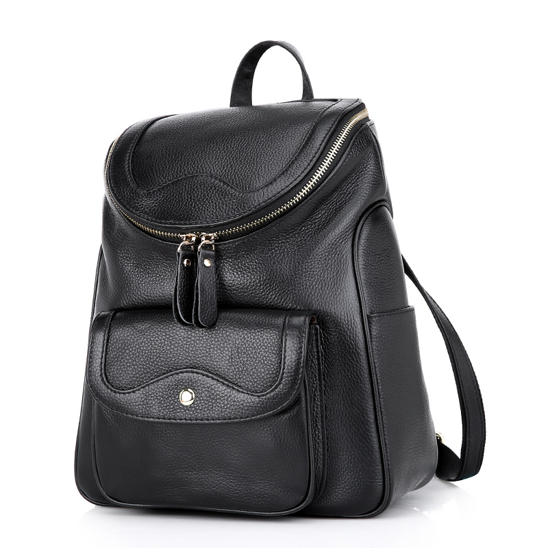 ZENCY Backpack Nature Real Leather Female Famous Brands Genuine Cow Leather Bags Soft Top Layer Cowhide Women Backpacks Ladies zency genuine leather backpacks female girls women backpack top layer cowhide school bag gray black pink purple black color