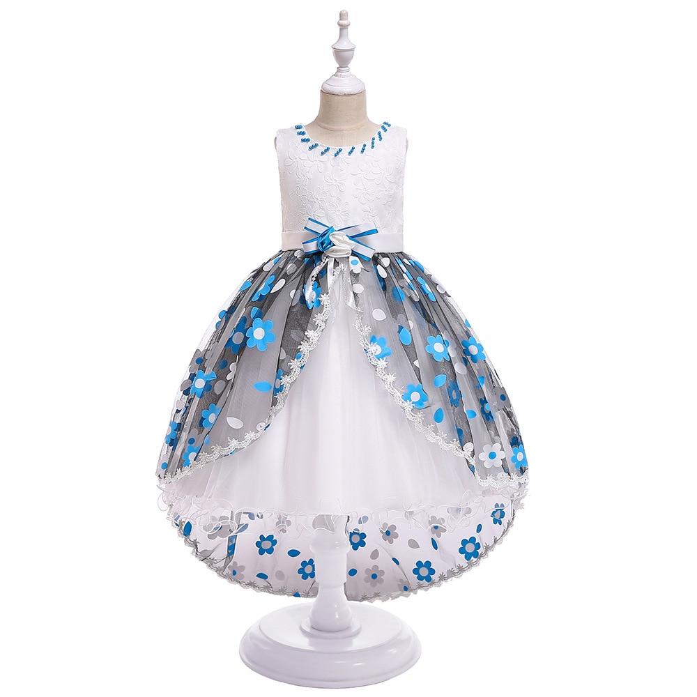 Elegant A-Line   Flower     Girls     Dresses   For Applique Lace Tulle Children   Dresses     Girls