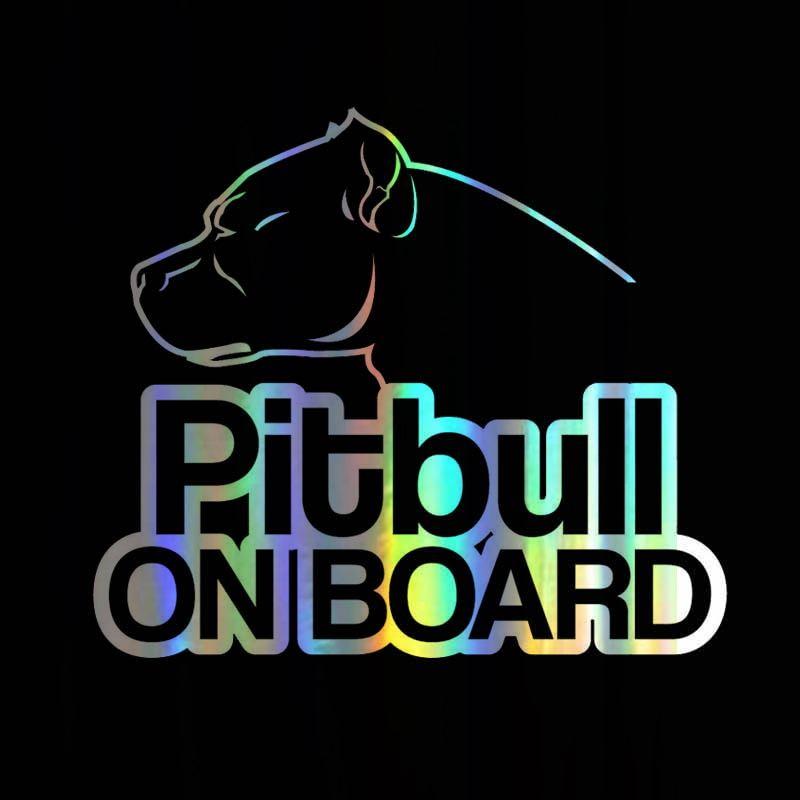 Sticker Vinyl 16*13.9cm Pitbull On Board Dog Sticker On window Body Door Stickers and Decals Funny Motorcycle window Styling