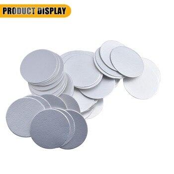Para sellado por inducción, revestimiento de tapa de lámina de aluminio laminado de 90mm, selladores de 10000 Uds