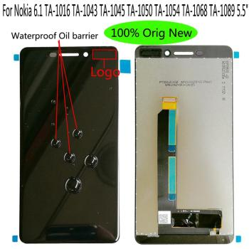Shyueda IPS 100% Orig New AAA+ For Nokia 6.1 TA-1016 TA-1043 TA-1045 TA-1050 TA-1054 TA-1068 TA-1089 LCD Display Touch Screen shyueda 100% original new aaa for nokia 3 ta 1020 ta 1028 ta 1032 ta 1038 5 0 lcd display touch screen digitizer