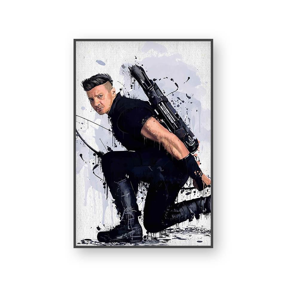 Настенный художественный холст с печатью постера, настенные картины для домашнего декора, Марвел, Мстители, фильм супергерой, Дэдпул, Железный Человек-паук, Локи - Цвет: L394H