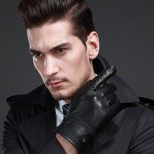 Новые модные мужские перчатки из натуральной кожи натуральные Мужские кожаные перчатки TSR168