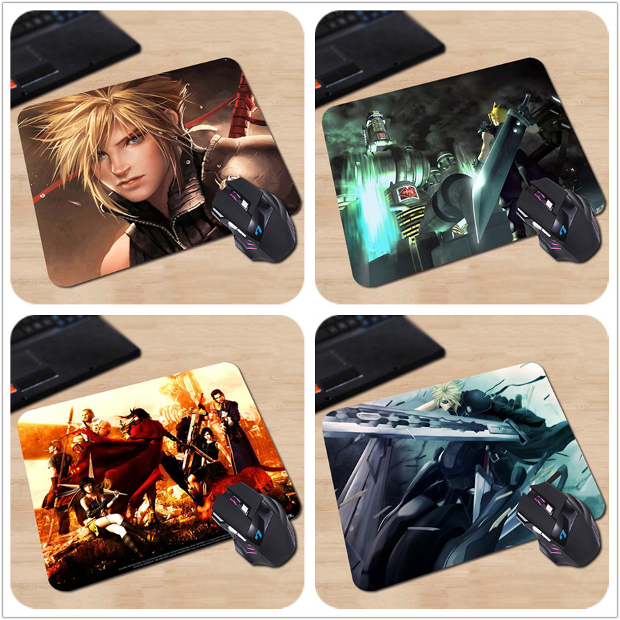 Final Fantasy Characters Desk & Mouse Pad Table Play Mat (CLOUD STRIFE - FINAL FANTASY 2) Gaming Customize Athletics Mouse Pad