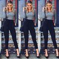Jeans Stretch de Cintura alta Magro Calças Lápis Calça Senhoras Nova Moda Das Mulheres Magras Calças Compridas