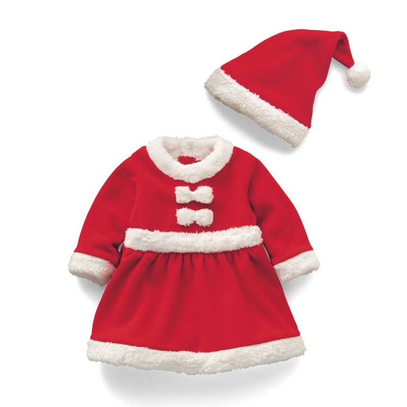 Goldbuddy Mode Baby mit Hut Junge Weihnachten Kostüme Santa Mädchen Kleid Kostüm Frohe Weihnachten