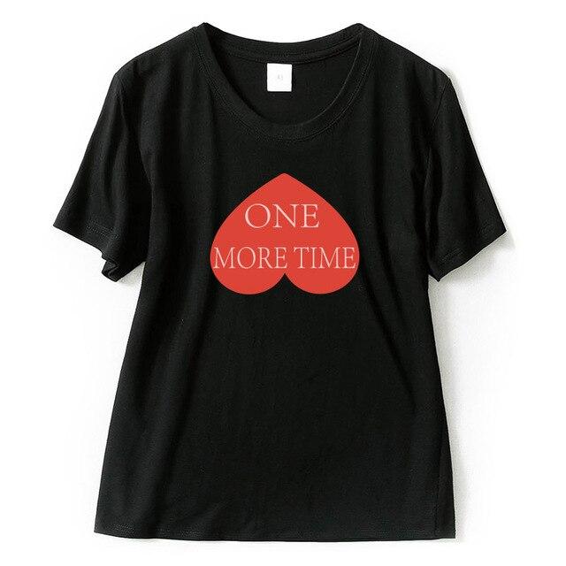 Compre T Das Mulheres Na Moda Das Mulheres T Camisas Amor One More ... 8598b091e0a4a