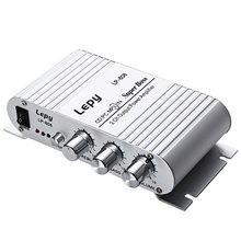12V MiNi Portable Wired HiFi Super Bass Amplifier for Mobile Phone MP3 PC with Volume Control Wall Charger Super Bass