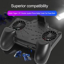 SS1+X7 for PUBG Mobile Controller Gamepad Handle with Dual Cooler Cooling Fan Two Fans Effective Temperature Reduction