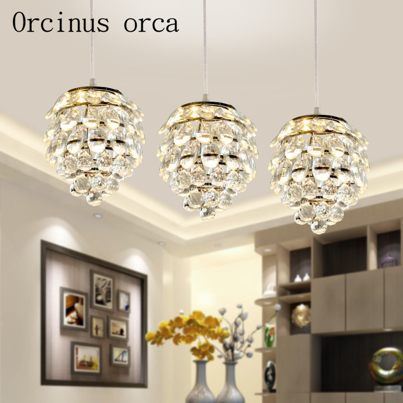 The Simplicity Of Modern Crystal Lamp Room Corridor Restaurant Bar Creative Personality Crystal Chandelier Free Shipping