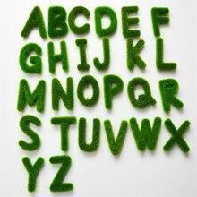 Креативная искусственная Моховая трава буквы Алфавит A-Z растение в горшке свадебное украшение автомобиля домашний декор стола стрельба реквизит 52826