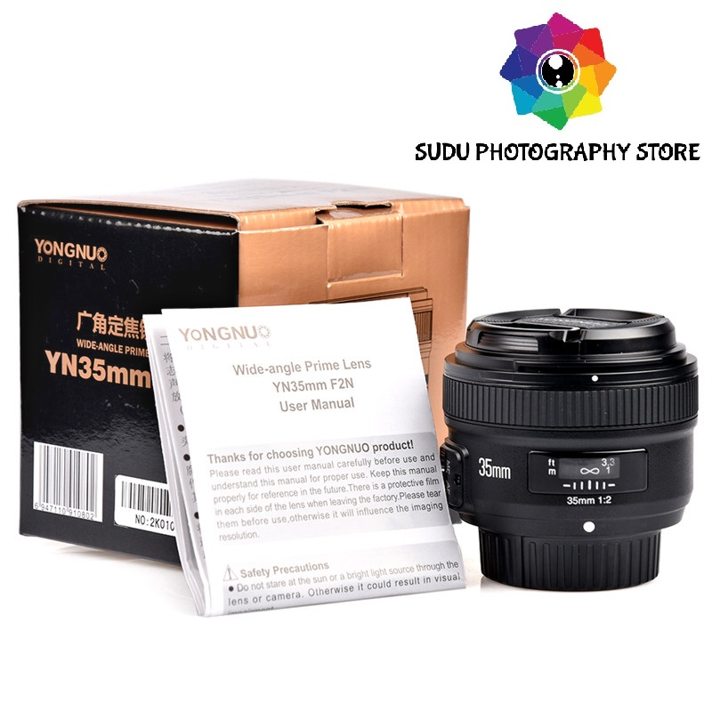 <font><b>YONGNUO</b></font> <font><b>35mm</b></font> F2 1:2 AF/MF Wide-angle Auto Focus for <font><b>Nikon</b></font> NEW image