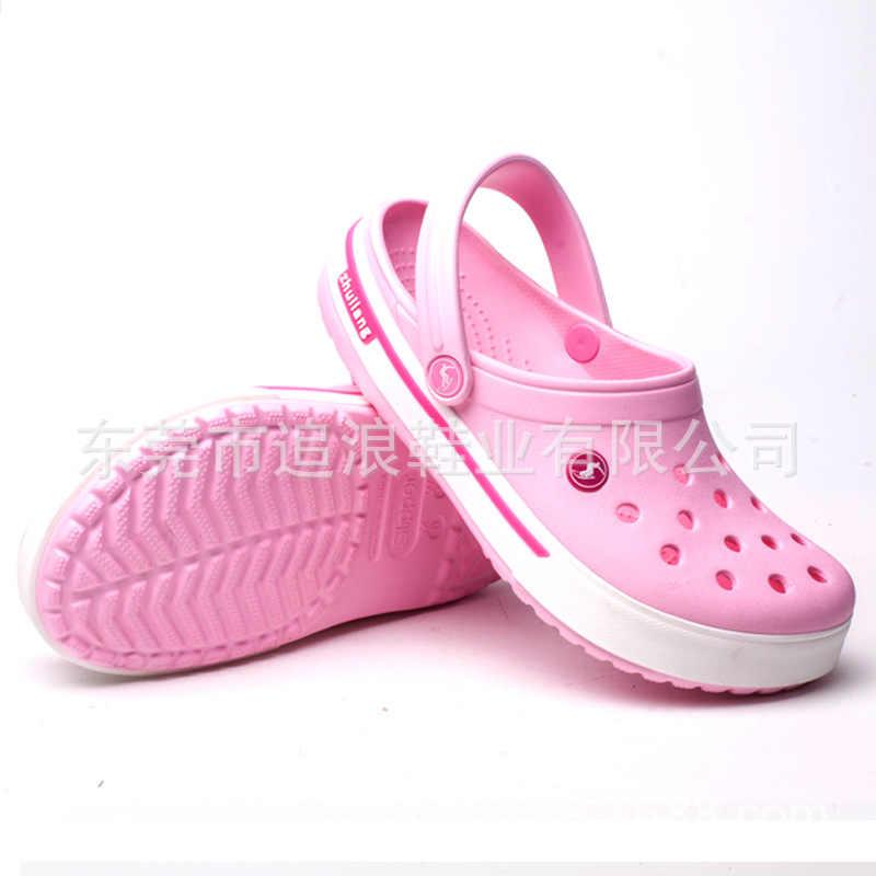 النساء أحذية الرجال جديد وصول الشباب الفتيان الفتيات أزياء الصيف الصنادل الشاطئ تسد تمساح صالح سحر الوجه يتخبط النعال إيفا أحذية