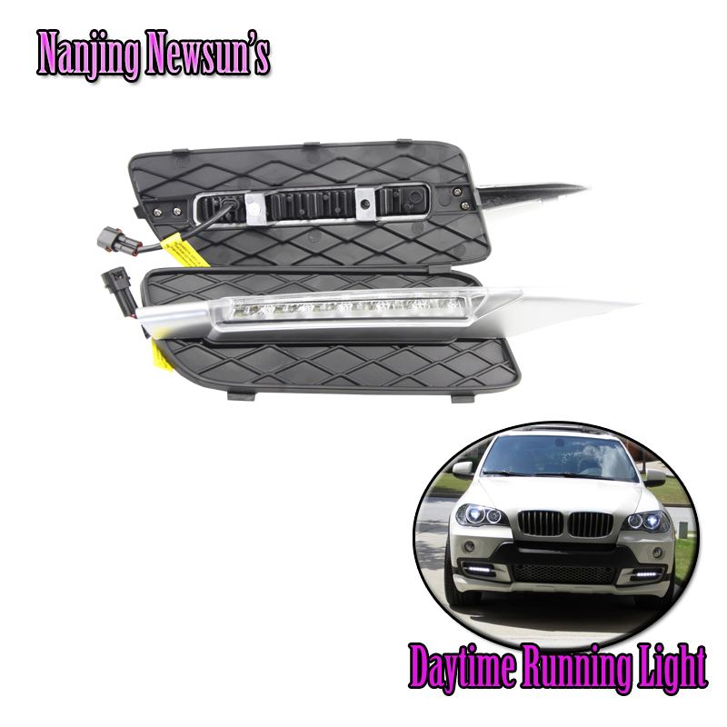 New Daylight Running Light for BMW E70 X5 SUV (2007-2009) LED DRL Lights ABS shell Daytime Running Lights 12V DC dim/on/off