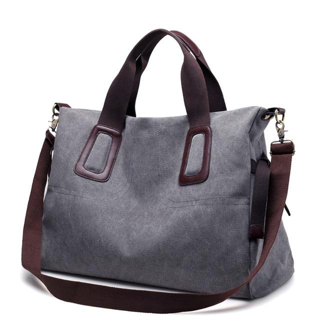 a226a8895670 Canvas Handbags Women Casual Large Totes Female Big Capicity Ladies Zipper  Hobos Shoulder Women Crossbody Bags