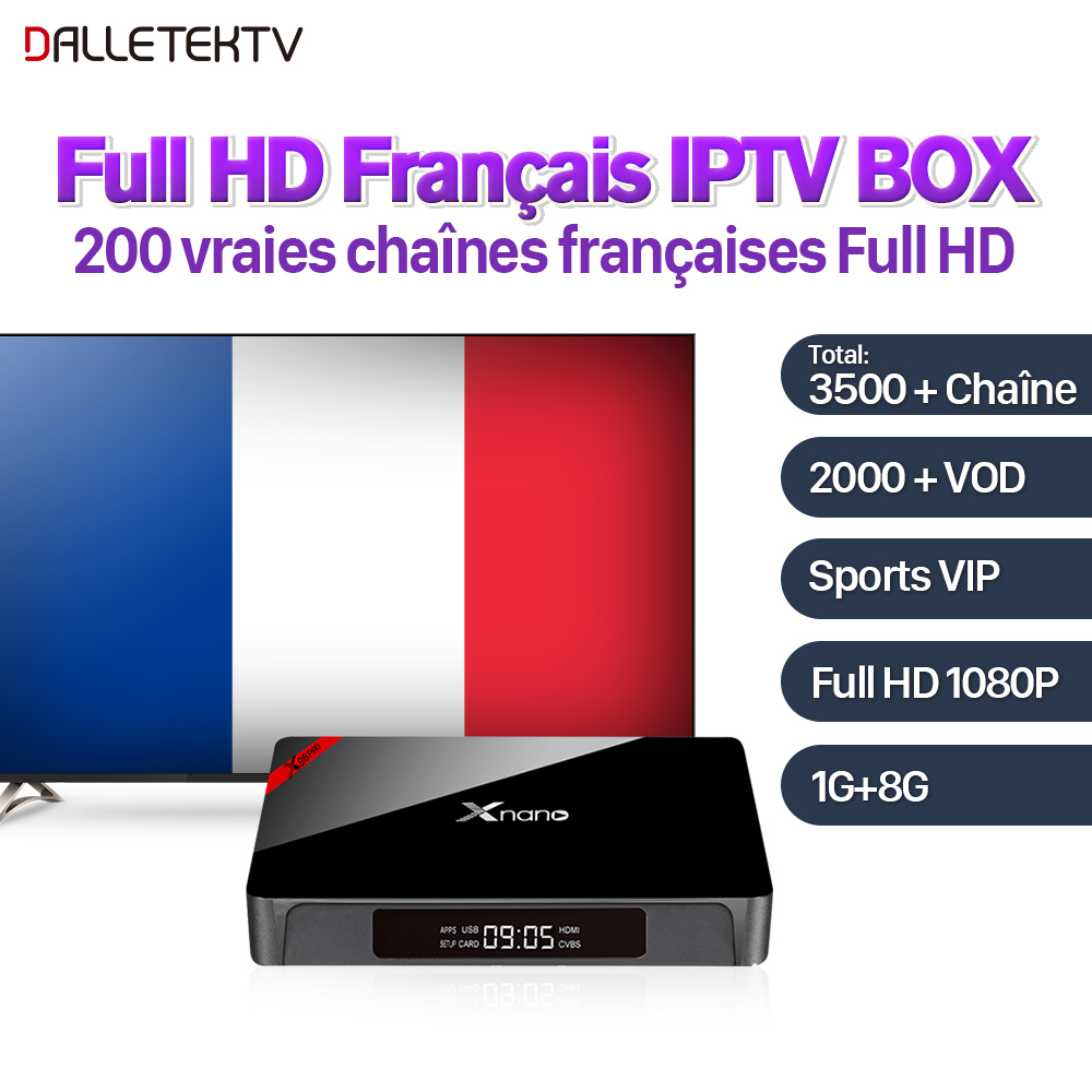 цена на Xnano Full HD French IPTV Box Android VOD Movie Arabic French IPTV 3500 Channels SUBTV IPTV Subscription France Arab IPTV Box