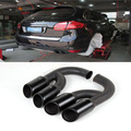 Turbo GTS 958 Sport Carbon Black OEM exhaust tips Car Muffler Tail Tip V6 Exhaust Pipe Tip for 2011-2014 Porsche Cayenne