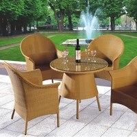 На открытом воздухе лоза мебель комплект ротанг стул