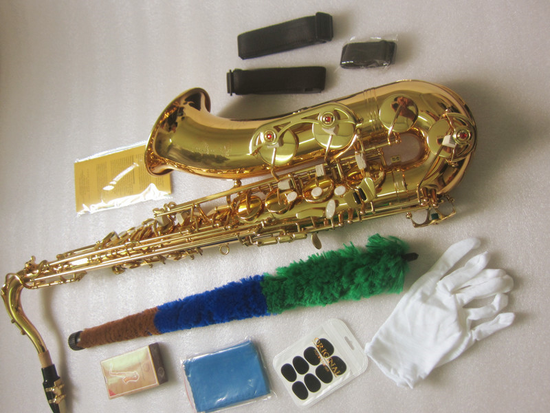 New Saxophone tenor Bb STS- 802 model Sax gold tenor Saxopfone musical instruments Perfect packaging Gift way shipment