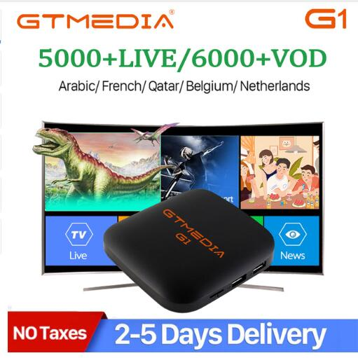 M3u IPTV G1 Android TV BOX GTmedia Android 7.1 Smart TV Box 1GB 8GB Amlogic S905W Quad Core 2.4GHz WiFi Set Top Box PK X96 Mini