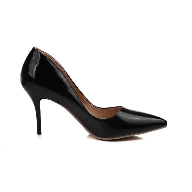 3db030e963e8 New Fashion Black Yellow Red Women Glossy Nude Pumps High Heels Lady Formal  Shallow Shoes EK52 Plus Big Size 10 48 30 43-in Women s Pumps from Shoes on  ...