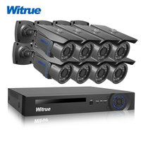 Witrue 8CH Surveillance System 1080P Hybrid AHD DVR 2 0MP Sony IMX323 Security Camera Outdoor Waterproof
