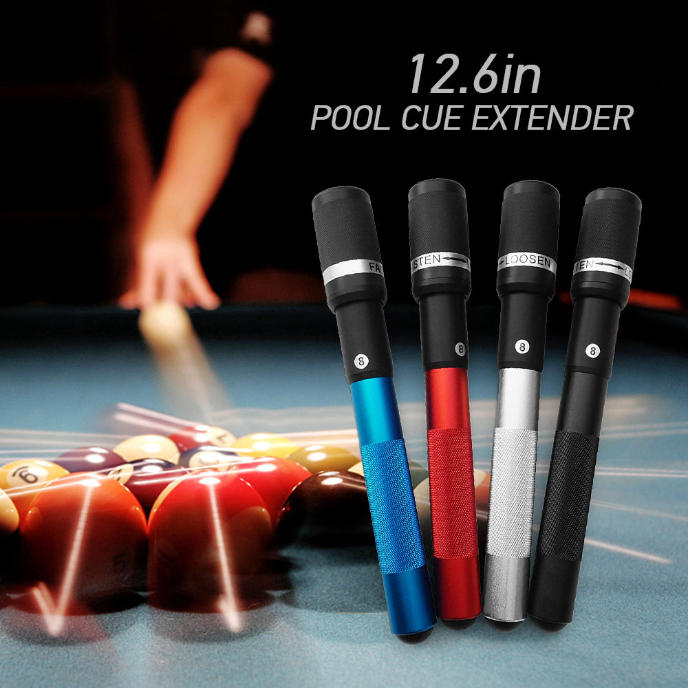 12.6IN Pool Cue Extension Billiard Extender Rotary Fixation Cue Stick Extension Club Tool For Billiards Snooker Accessories