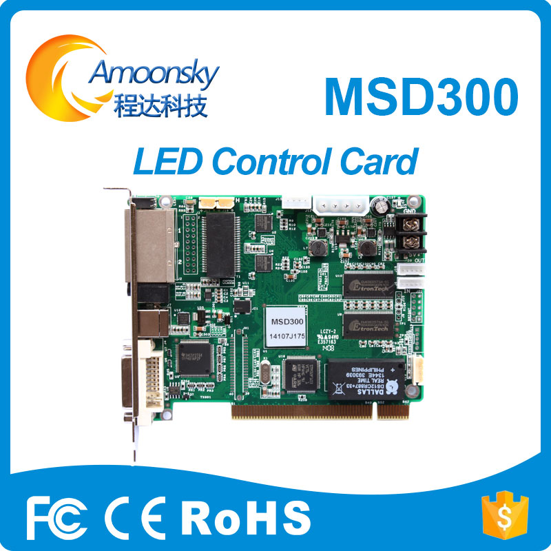 competitive price novastar msd300 led sign control system 1 dvi video input programmable led controller card for p5 indoor led v