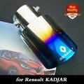 Livre para transporte fit KADJAR 2015 - 2016 aço inoxidável tubo de escape silenciador tubo de escape auto acessórios 1 pcs assar azul