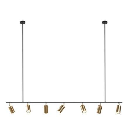 Ouro abajur luzes pingente led pendurado lâmpada spotlight gu10 nordic design moderno para sala de jantar metal luminária suspensão