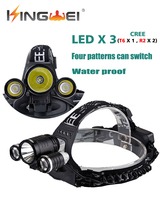 Camping Head Lamp Cree Xml T6 2000 Lumens Linterna Frontal Rechargeable Led Lantern Use 18650 Battery