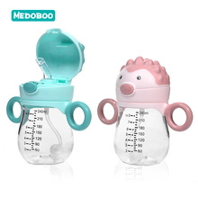Medoboo 240ML Baby Water Bottle With Straw Children Feeding Cup Drinker BPA Free Tritan Learn Training 30