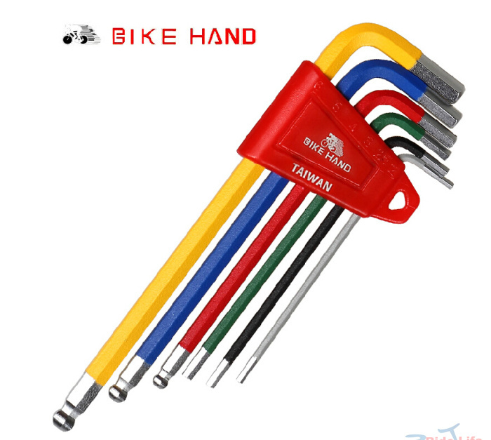 6pcs/set  Hex Key Ball End Set Allen Keys 2/2.5/3/4/5/6mm Wrench Handle Hexwrench Bike Bicycle Repair Tools Kits Set