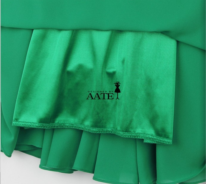 72eaaee485 Free Shipping Western Style Green Dresses New Fashion 2013 For Women  Chiffon Pleated Mini Clothes With Belt M XL SD044-in Dresses from Women's  Clothing on ...