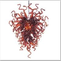 Única Cor Vermelha Contemporânea Lustre de Vidro Lustre de Luxo