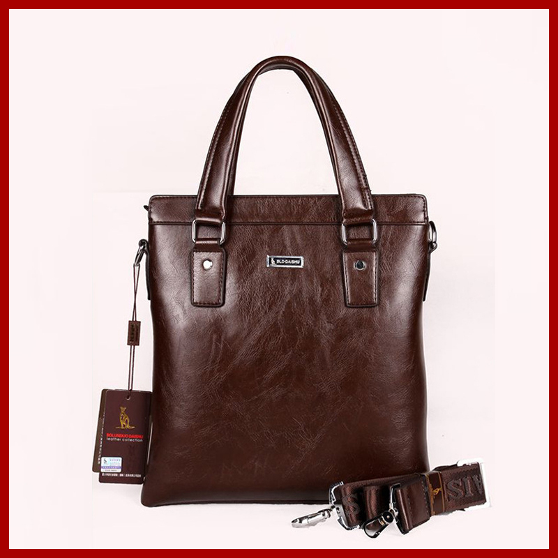 2015 new arrival genuine leather bag fashion men messenger bags cowhide male business briefcase casual retro men's travel bags