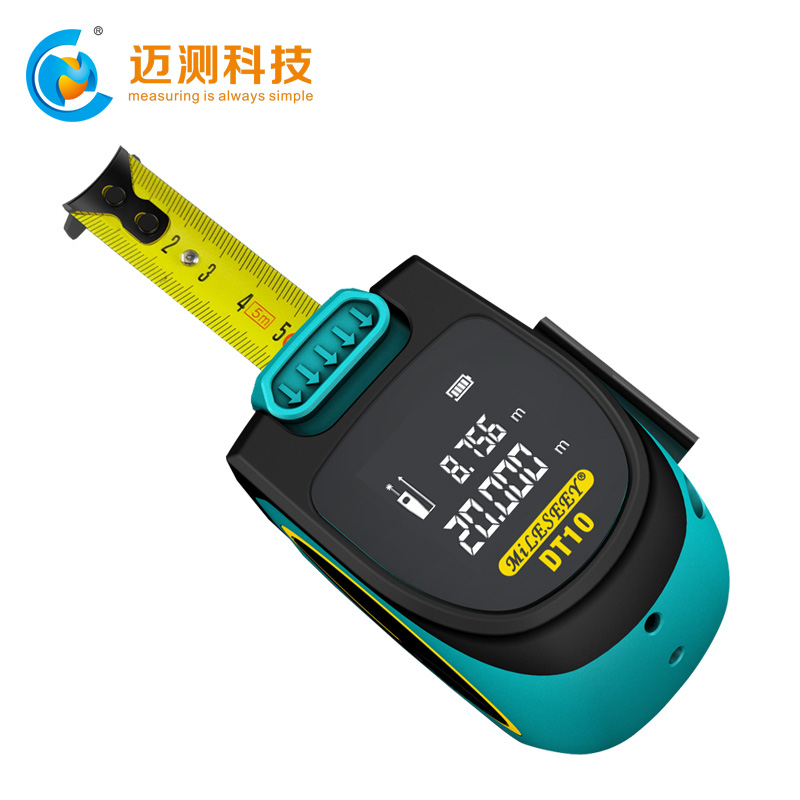 DT10 2-in-1 Digital Laser Measure with LCD Display Measuring tape Laser Rangefinder Measuring tools