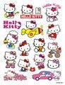 16 unids Hello Kitty pegatinas de dibujos animados creativos para el ordenador portátil patín maleta pvc diseño de accesorios de bricolaje etiquetas engomadas lindas del envío libre