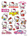 16pcs Hello Kitty cartoon Stickers creative for laptop skateboard  suitcase pvc Design DIY Accessory cute stickers free shipping